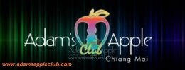 Adams Apple Club Chiang Mai Logo Gay Bar Host Club Nightclub Adult Entertainment Go-Go Bar