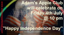 Independence Day Party Adams Apple Club