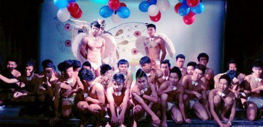 Cocktail Boys At Adams Apple Gay Club Chiang Mai