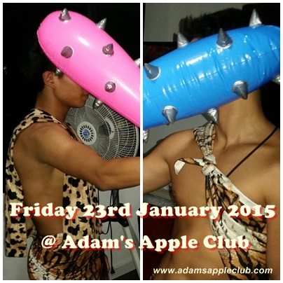 stone age boy party at Adams Apple Club Chiang Mai