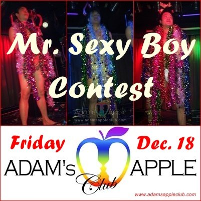 Mr. Sexy Boy Contest join our sexy Adam's Apple Bar Boys