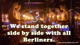 We stand together side by side with all Berliners.