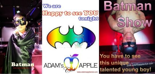 Gay Adams Apple Club Batman