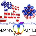 Happy 4th July Independence Day Adams Apple Club c