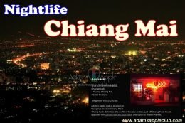 Chiang Mai Rose of the North by night Adams Apple Club