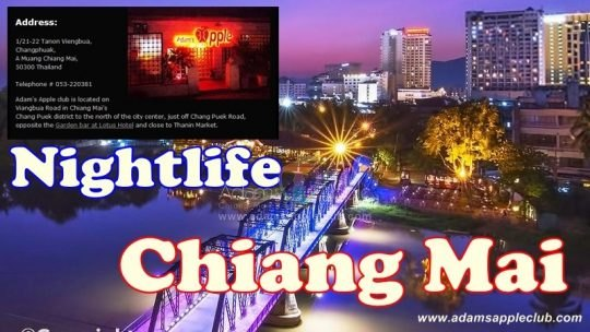 Chiang Mai by night Adams Apple Club
