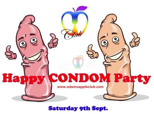 Happy Condom Party Adams Apple Gay Club