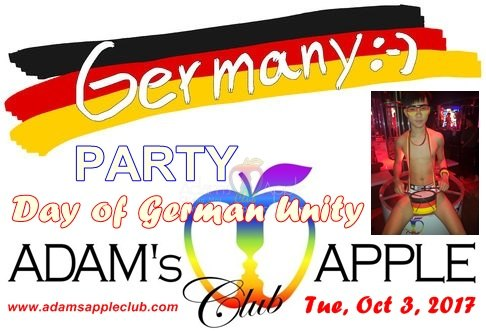 German National Day Adams Apple Club