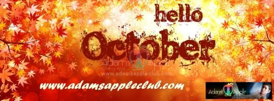 Welcome October Adams Apple Gay Club Chiang Mai
