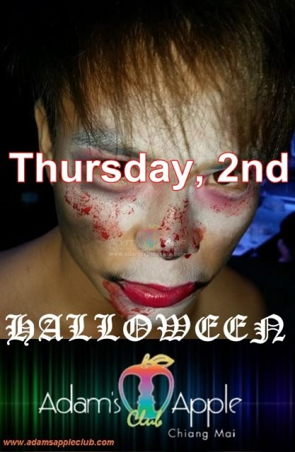 Halloween Adams Apple Gay Club Chiang Mai