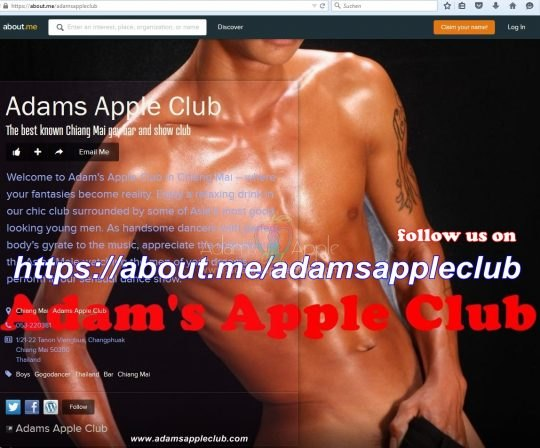 About Me Adams Apple Club Chiang Mai