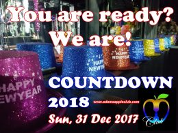 Countdown 2018 Adams Apple Club