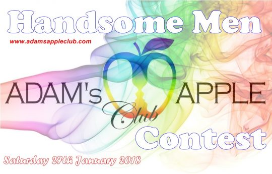 handsome men contest Adams Apple Club