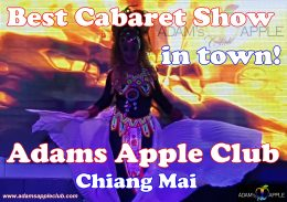 Best Cabaret Show Adams Apple Club Chiang Mai