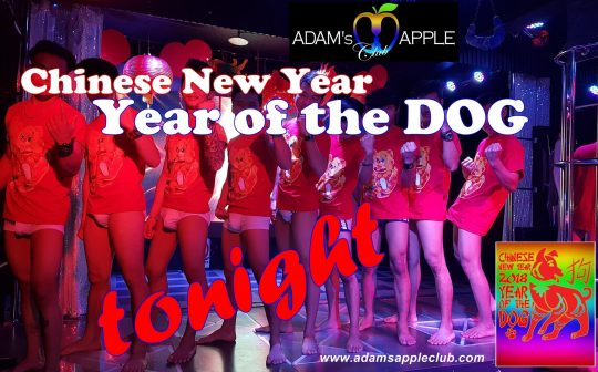 Chinese New Year Adams Apple Club Chiang Mai Year of the Dog