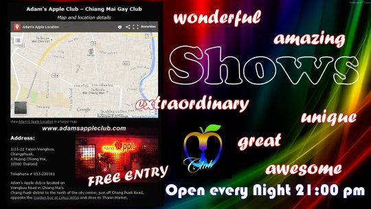 Gay Bar Adams Apple Club Chiang Mai Map