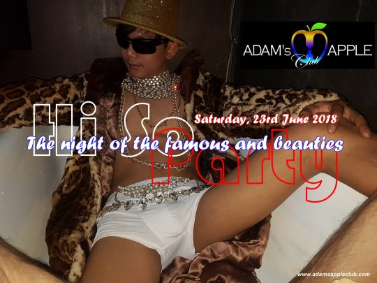 HI-SO Party Adams Apple Gay Club Go Go Bar