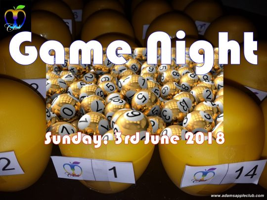 Game Night Adams Apple Club Chiang Mai