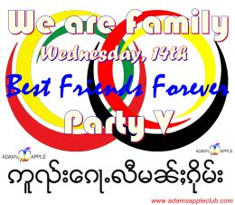 We are Family Party V Adams Apple Club