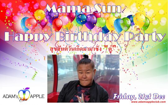 Mama Sun HBD Adams Apple Club Chiang Mai