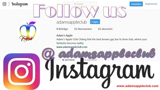Follow us on Instagram Adam's Apple Club Chiang Mai