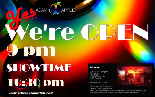 Adams Apple Club OPEN tonight