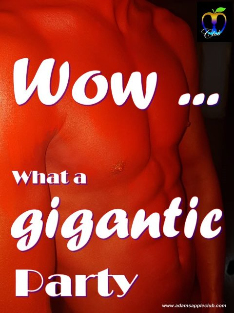 Adams Apple Club GIGANTIC RED Party