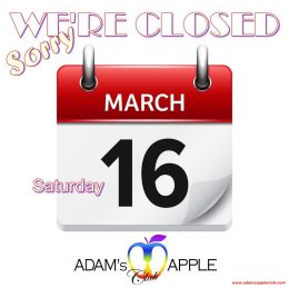 16. March Adams Apple Club Chiang Mai closed for 1 Day