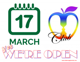 Adams Apple Club OPEN 17th March