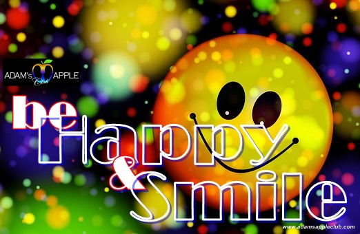be Happy and Smile Admas Apple Club CNX