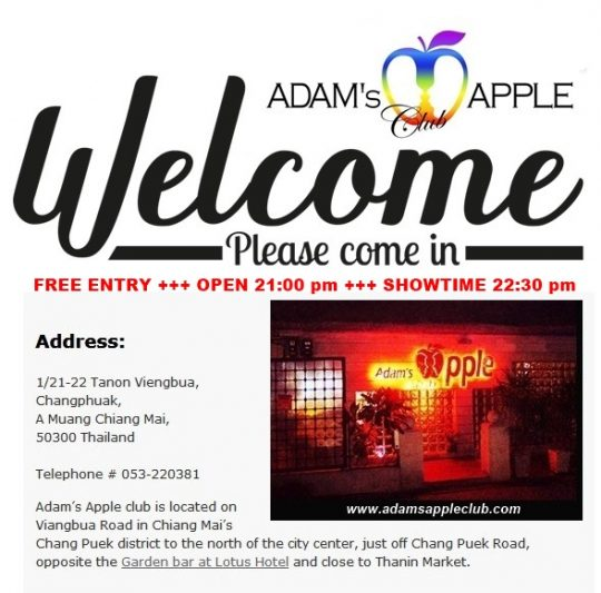 Welcome to Adams Apple Club Chiang Mai