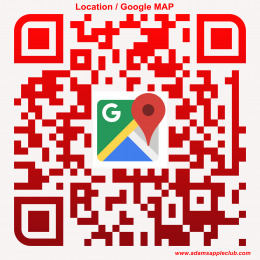 qr-code Adams Apple Club Location / Google MAP