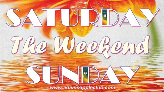 Awesome Weekend SATURDAY SUNDAY Adams Apple Club CNXAwesome Weekend SATURDAY SUNDAY Adams Apple Club CNX