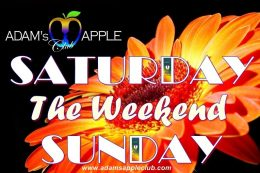 Awesome Weekend SATURDAY SUNDAY Adams Apple Club CNX