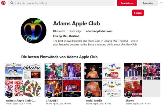 pinterest.com Adams Apple Club Chiang Mai