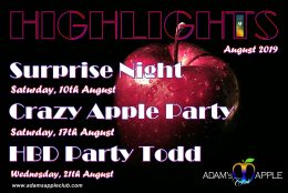Highlights in August 2019 Adams Apple Club CNX