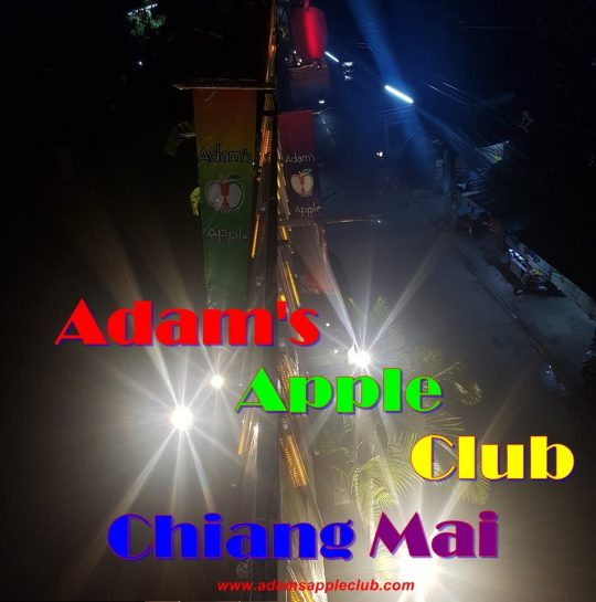 Adams Apple Club Chiang Mai OUTSIDE at night