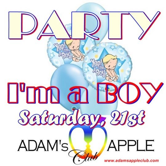 I'm a BOY Party Adams Apple Club