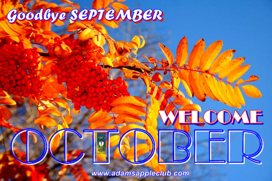 WELCOME OCTOBER 2019 Adams Apple Club