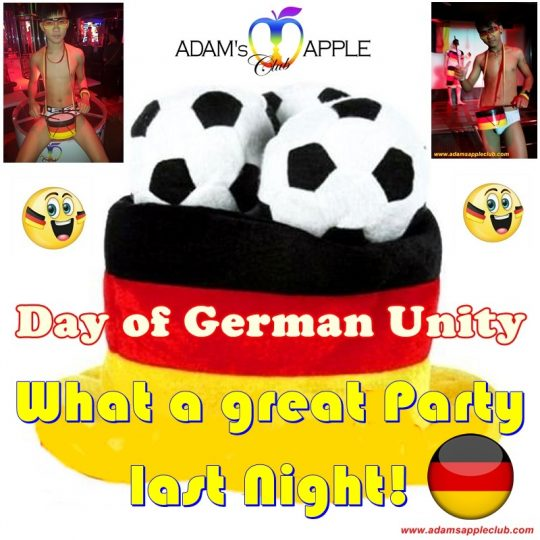 DANKESEHR Day of German Unity 2019 Adams Apple Club