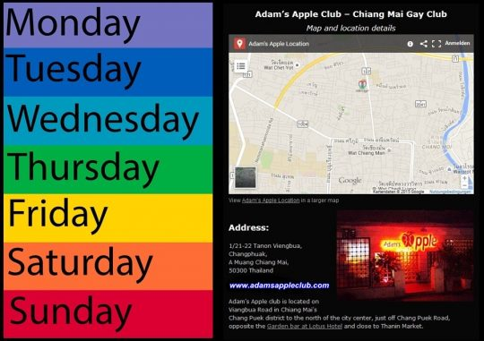 Monday - Sunday See You @ Adams Apple Club