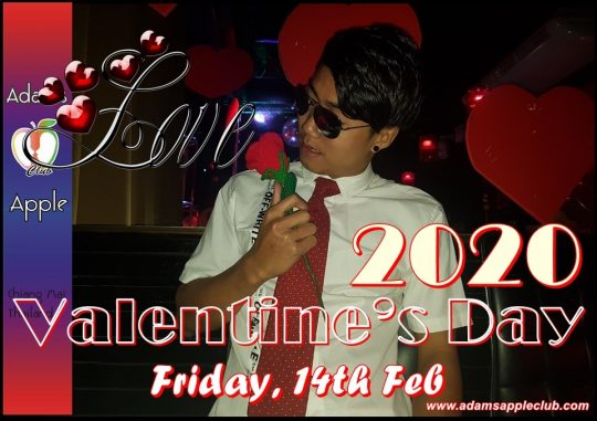 Valentins Day 2020 Adams Apple Club Chiang Mai