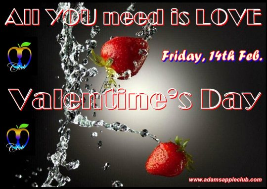 All YOU need is LOVE Valentins Day 2020 Adams Apple Club