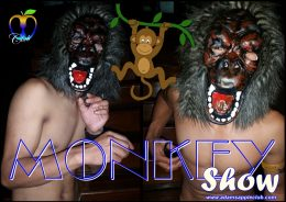 Crazy Monkey Show Adams Apple Club Host Bar Chiang Mai
