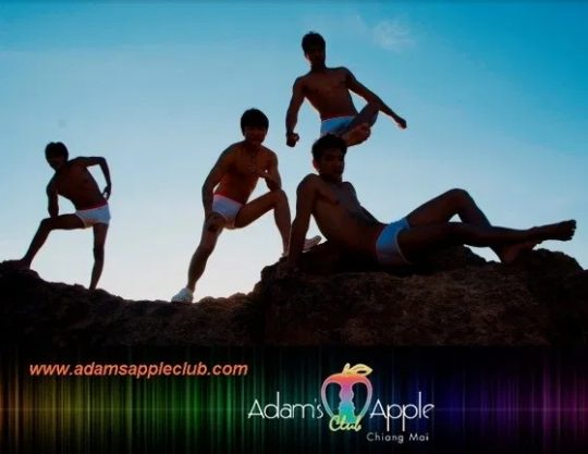 Adams Apple Club Boys dancing Grand Canyon Chiang Mai