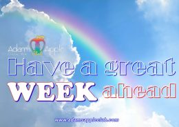 Have a great week ahead