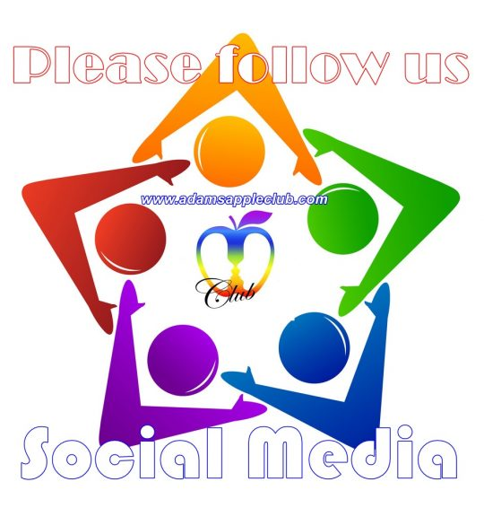 Adams Apple Club Follow us Social Media