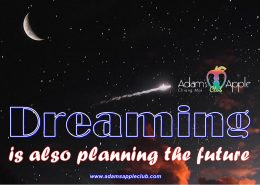 Dreaming is also planning the future