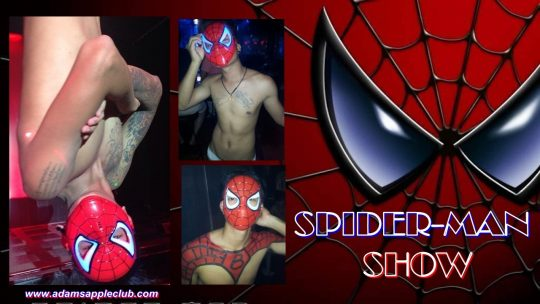 SPIDER-MAN Show from Adams Appel Gay Club Chiang Mai