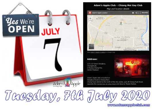 Tuesday 7th July 2020 Adams Apple Club
